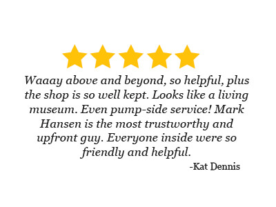 5 star review from Kat Dennis about the